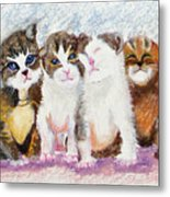 Cuddle Kitties Metal Print