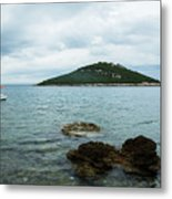 Cunski Beach And Coastline, Losinj Island, Croatia Metal Print