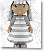 Cute Little 3d Girl Metal Print