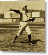 Cy Young With The Boston Americans 1908 Metal Print
