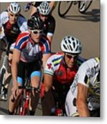 Cycle Racing Metal Print