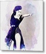 Cyd Charisse, Actress And Dancer Metal Print