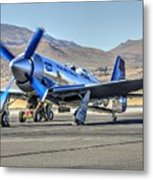 Czech Mate Engine Start Sunday Afternoon Gold Unlimited Reno Air Races Metal Print