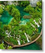 Dave Ruberto - Wonderful Green Nature Waterfall Landscape  Metal Print