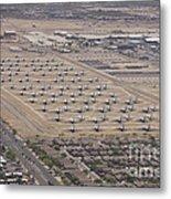 Davis-monthan Air Force Base Airplane Metal Print