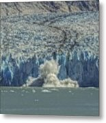Dawes Glacier Calving #1 Metal Print