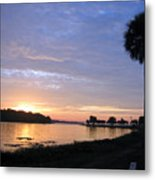 Daybreak At Venetian Gardens Metal Print