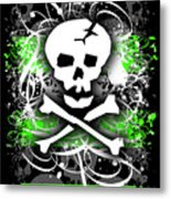 Deathrock Skull Metal Print