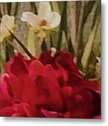 Decorative Mixed Media Floral A3117 Metal Print