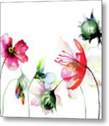 Decorative Wild Flowers Metal Print