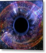 Deep Black Hole, Like An Eye In The Sky Metal Print
