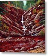 Deepwoods Cascade Metal Print