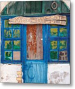Derelict Greek Cafe-ouzeri Metal Print