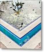 Derelict Swimming Pool Metal Print