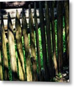 Detail Of An Old Wooden Fence Metal Print