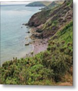 Devon Coastal View Metal Print
