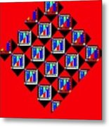 Diamond Red Metal Print