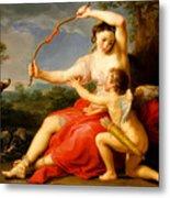 Diana And Cupid Metal Print