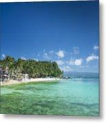 Diniwid Beach In Tropical Paradise Boracay Philippines Metal Print