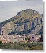 Distant View Of Cefalu Sicily  Metal Print