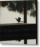 Dock Bird Metal Print