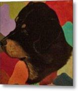 Dog in Art Metal Print