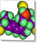 Domoic Acid Molecular Model Metal Print
