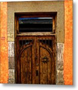 Door In Terracotta Metal Print