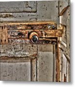 Door Latch Metal Print