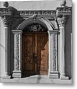Doorway Of The Santa Teresa De Jesus Church Metal Print