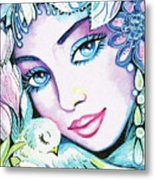 Dove Fairy Metal Print