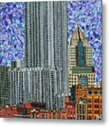 Downtown Pittsburgh - View From Smithfield Street Bridge Metal Print