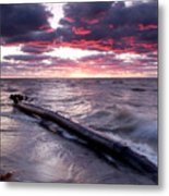 Drama Over Lake Erie Metal Print