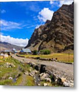 Drass Village Kargil Ladakh Jammu And Kashmir India Metal Print