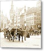 Dresden, Altmarkt Square, Germany, 1903 Metal Print