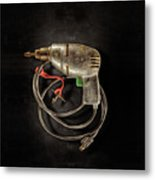 Drill Motor Green Trigger Metal Print