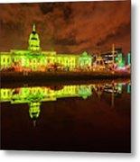 Dublin's Custom House In Green Metal Print