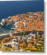 Dubrovnik Old Town From Above Metal Print