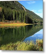 Duffey Lake Reflection In Autumn Metal Print