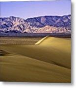 Dunes And Mountains Three Metal Print