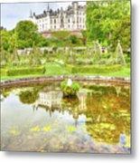 Dunrobin Castle Reflected Metal Print