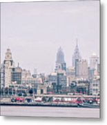Early Morning Sunrise Over Philadelphia Pennsylvania Metal Print
