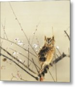 Early Plum Blossoms Metal Print