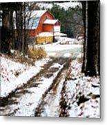 Early Winter Barn Metal Print