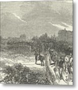 Easter Hunt With The Royal Stag Hounds  The Meet At Stoke Common Metal Print