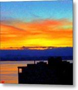 Edgewater Sunset Metal Print