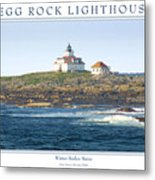 Egg Rock Island Lighthouse Metal Print