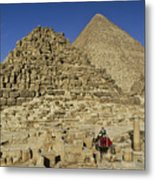 Egypt's Pyramids Of Giza Metal Print