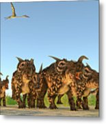 Einiosaurus Dinosaurs Metal Print