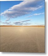 El Mirage Dry Lake Mojave  Metal Print